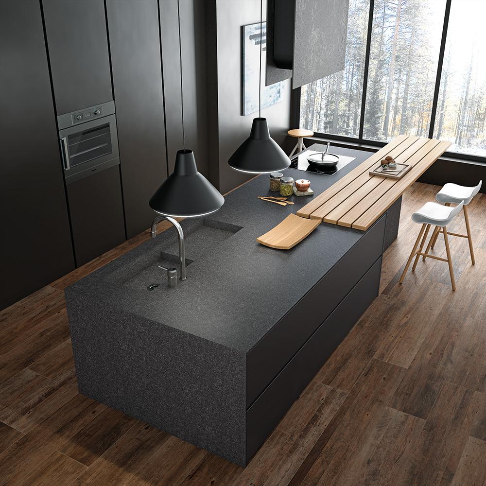 Mueble isla para cocina beautiful mueble isla with mueble for Mueble pared cocina